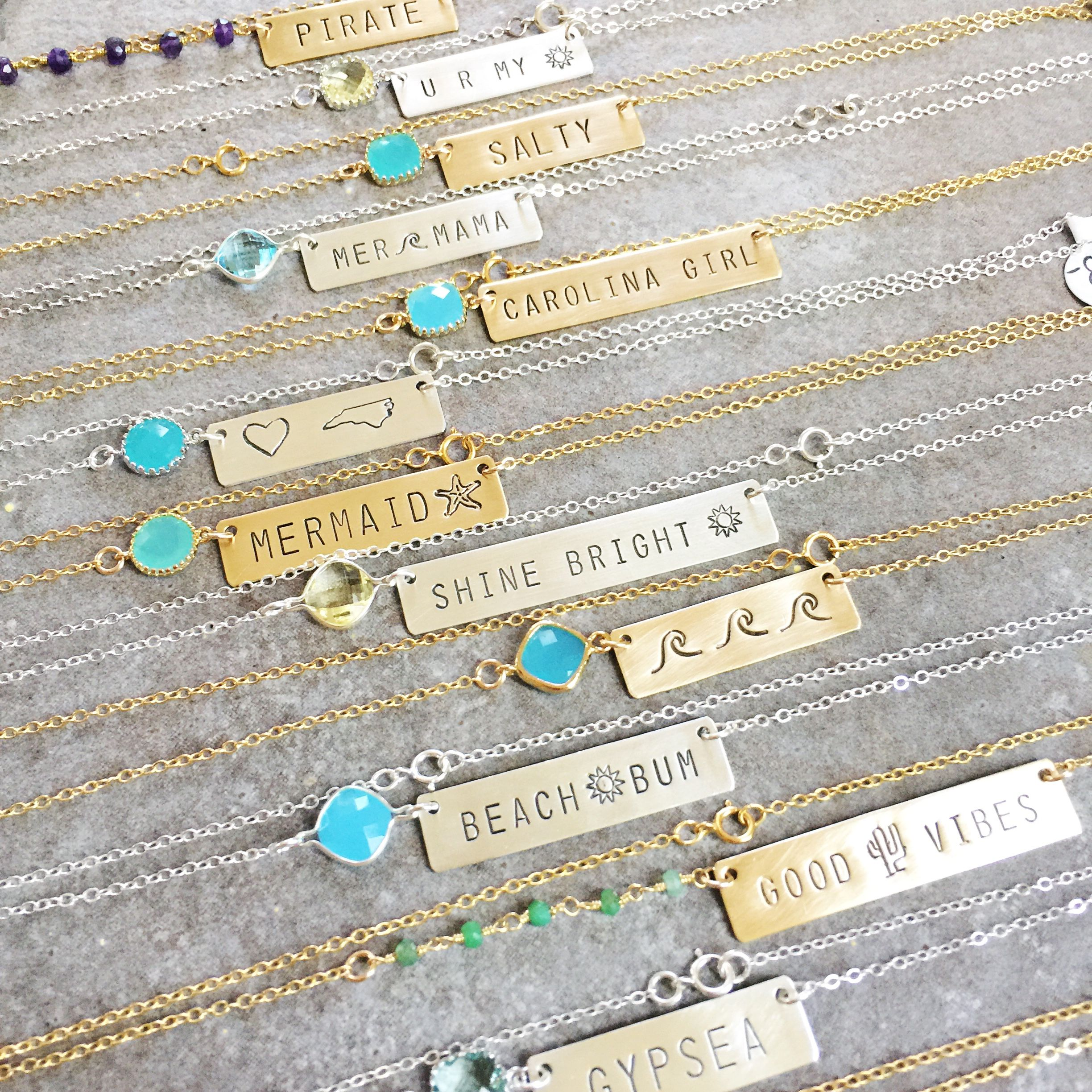 Pin by All Washed Up Jewelry on Stamped Bar Necklaces ...