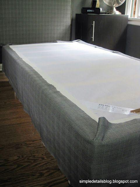 Simple Details Upholstered Box Spring Tutorial Upholstered Box