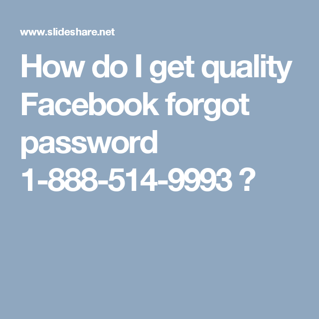 how to get password on facebook