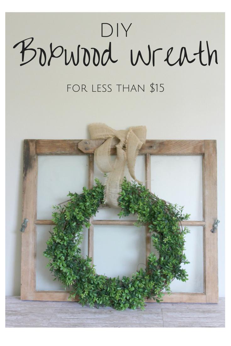 Hometalk diy christmas window decoration - Diy Farmhouse Boxwood Wreath