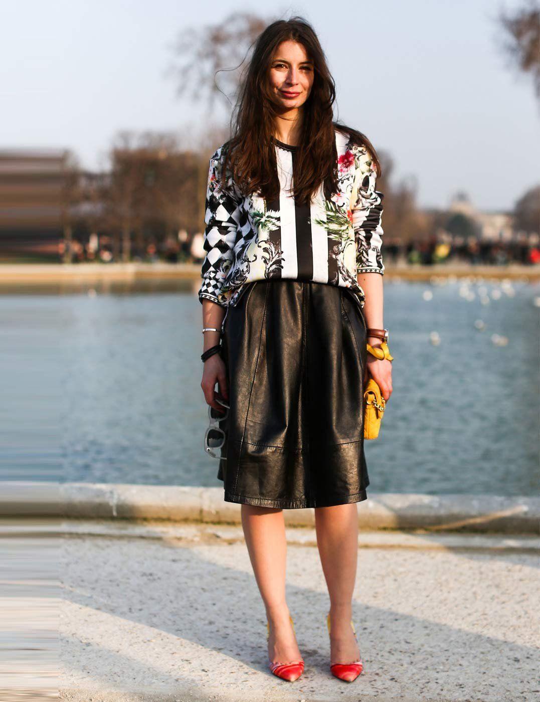 Best street style looks spotted at Paris Fashion Week Autumn / Winter 2013   ELLE UK