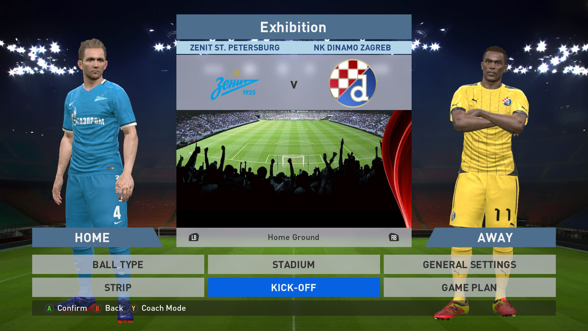 Zenit St Petersburg Vs Nk Dinamo Zagreb Petrovsky Stadium Pes 2016 Pro Evolution Soccer 2016 Konami Pc Gameplay P Pro Evolution Soccer Petersburg Zagreb