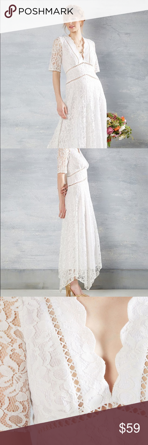 Wedding dresses for large busts  Modcloth Lace u Mesh Flowing to the Chapel Dress  ModCloth Dress