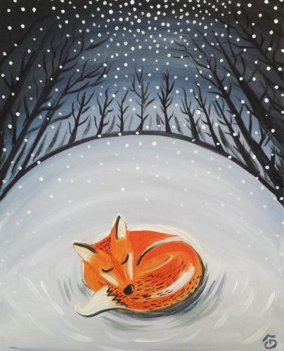 что лиса в зимнем лесу рисунок гуашью прошлом году признали