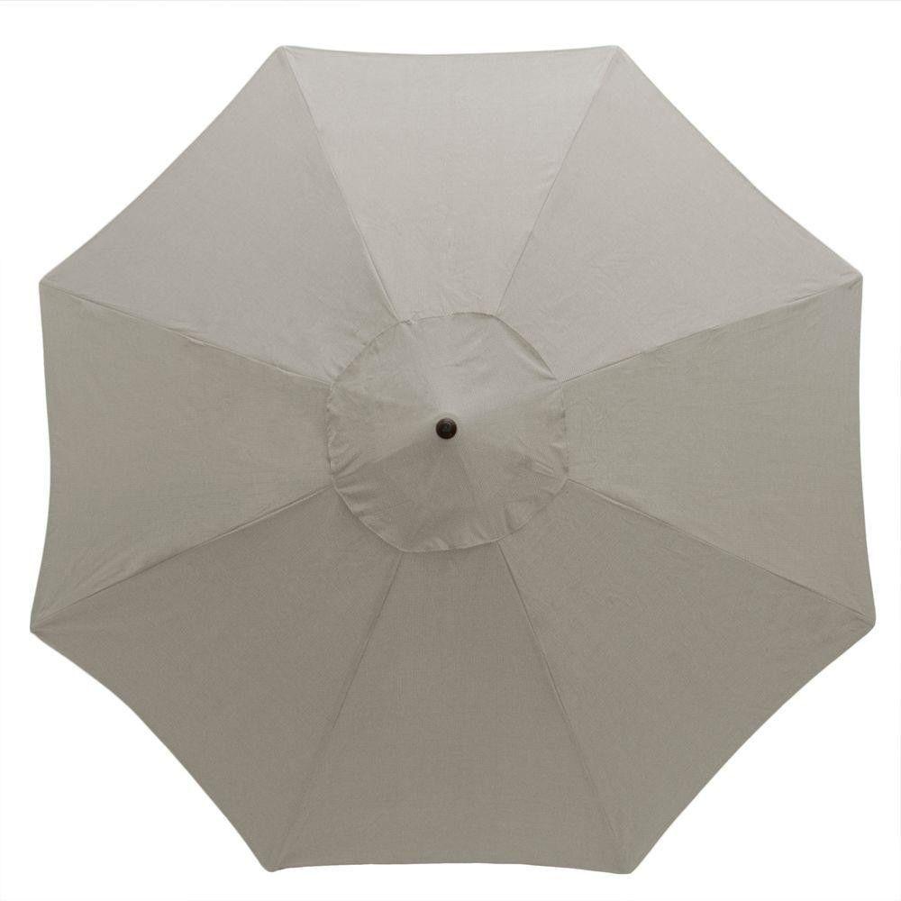 11 Ft. Sturdy Gray Aluminum Patio Umbrella Fabric Outdoor Garden Backyard  Deck #patioumbrella #umbrella #outdoor