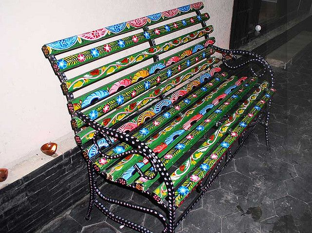 Francais De Lahore Bench Add Paint In 2019 Colorful
