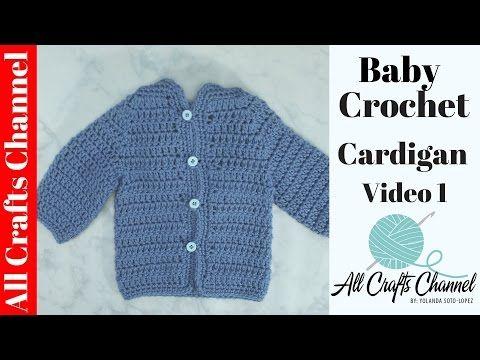 Easy To Crochet Baby Cardigan Crochet Baby Sweater Video 1