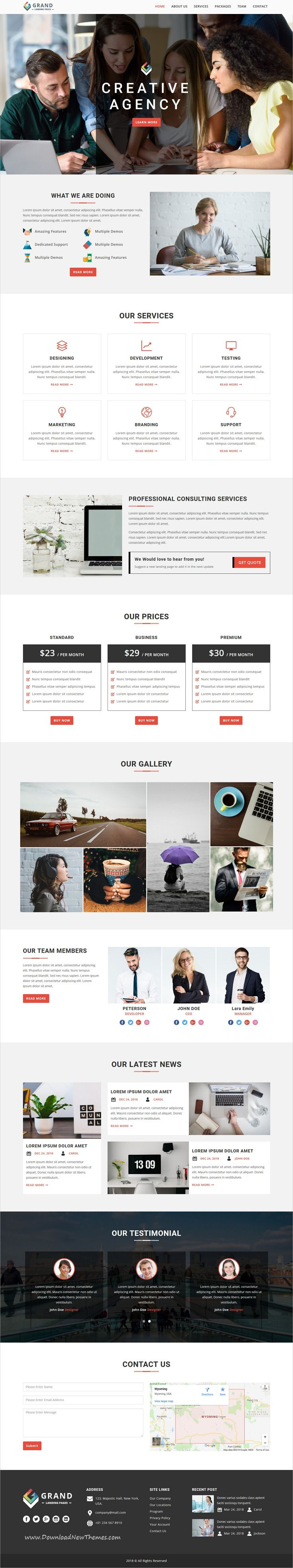 Grand Lead Generating HTML Landing Pages