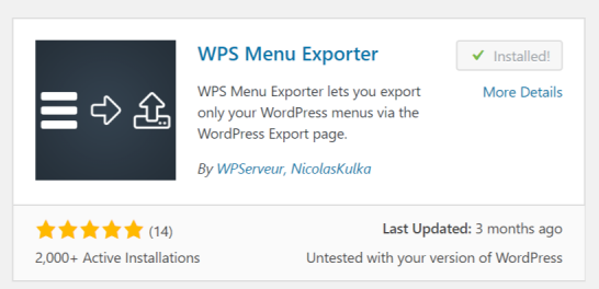 Export Your Menus Out Using WPS Menu Exporter Plugin | WordPress ...