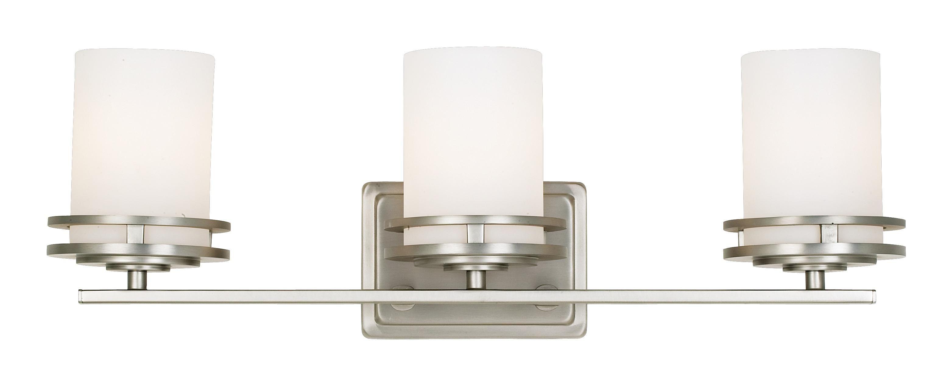 """Hendrik Nickel 24"""" Wide Bathroom Light Fixture"""