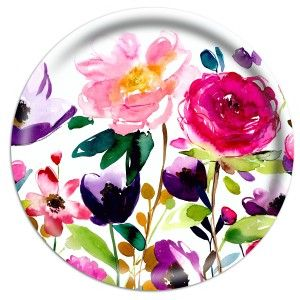 Red Rose Serving Tray