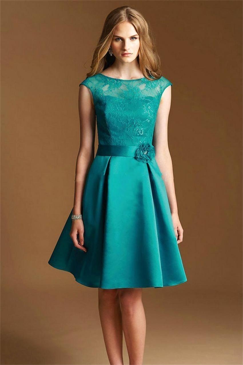 Modelos de vestidos de fiesta ala rodilla