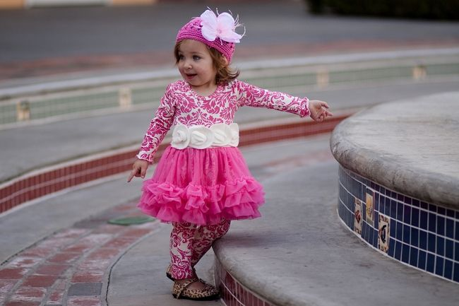Giggle Moon Hot Pink Candy Cane Tutu Dress with Leggings  Love !