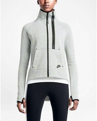 b88ba7d06e75 NWT Nike Tech Fleece Moto Women s Cape Full Zip Jacket Grey 642688-063 SZ  XL Clothing