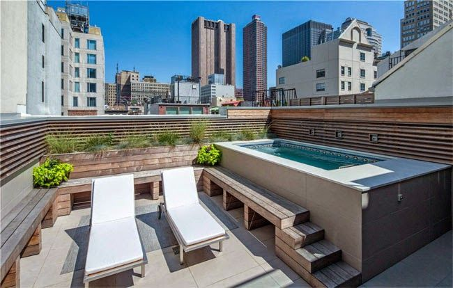 Casas minimalistas y modernas terrazas piscinas nicas - Piscinas para terrazas aticos ...