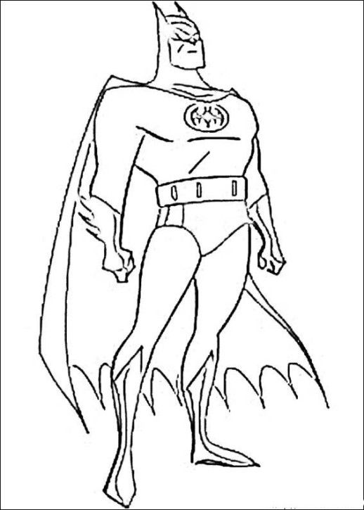 free batman superhero coloring pages printable 4456cf - Super Heroes Coloring Book