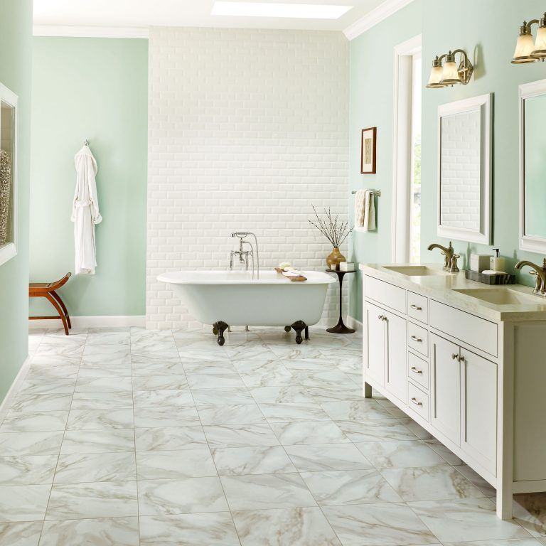 Discover Alterna Engineered Tile A Warmer Comfortable Alternative To Natural Stone And Ceramic With Marble Travertine Slate Vinyl Flooring Bathroom