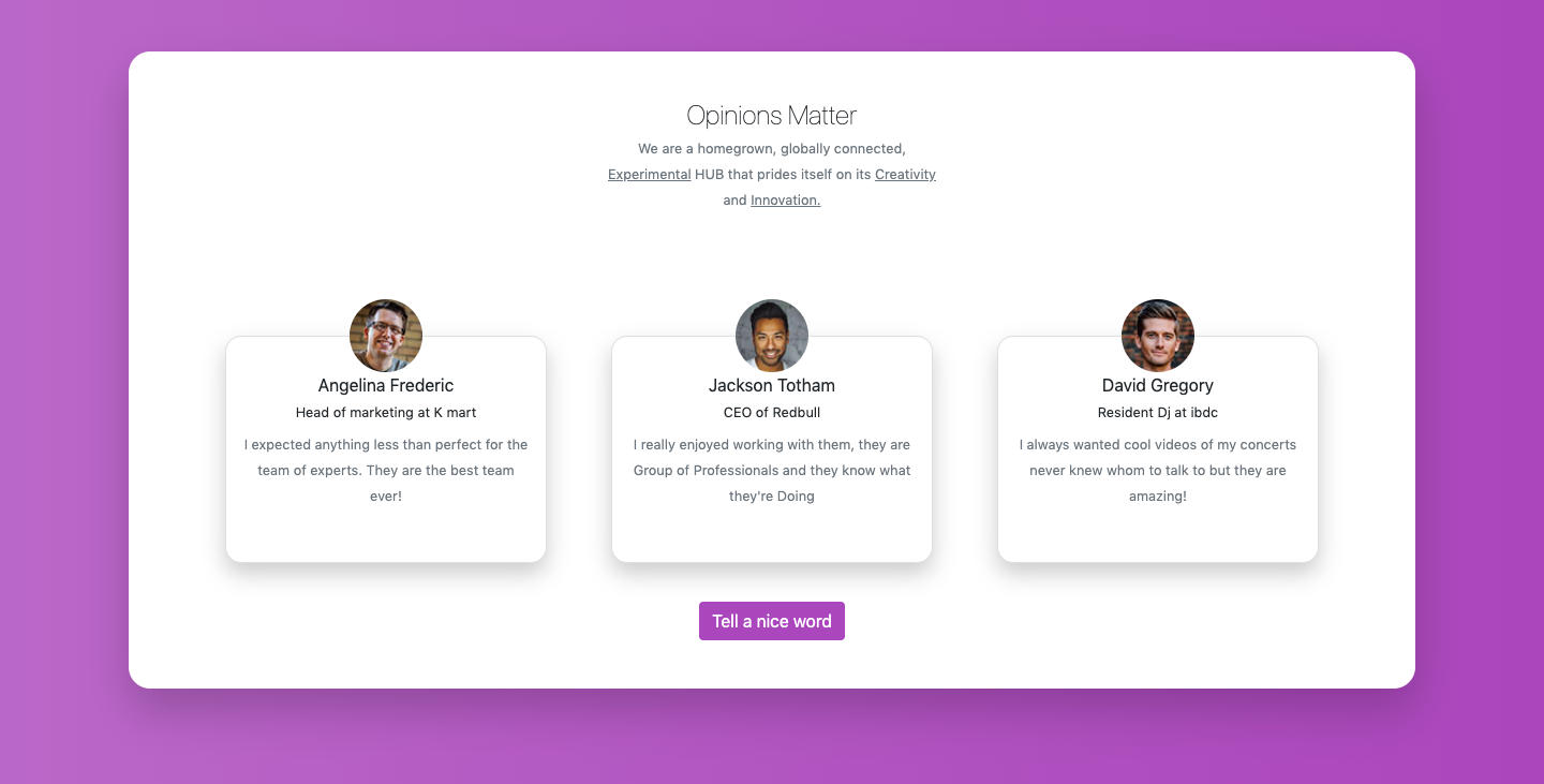 Bootstrap 4 Our Team Section With Round Pictures And Social Icons Example Social Icons Templates Material Design