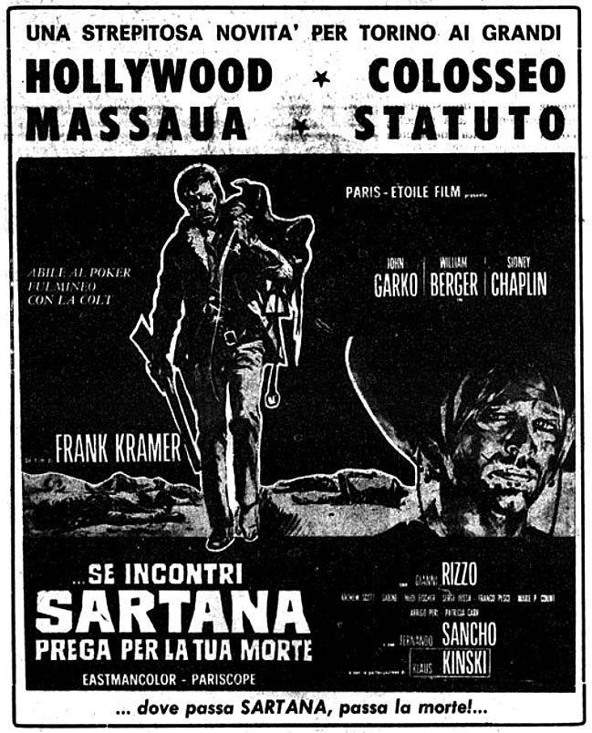 """Se incontri Sartana prega per la tua morte"" (1968) di Frank Kramer (Gianfranco Parolini), con Gianni Garko e Klaus Kinski. Italian release: October 9, 1968 #MoviePosters #Western #Sartana"