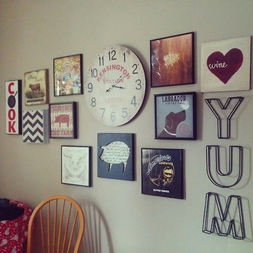 Apartment Friendly Diy Kitchen Collage Feature Wall Under 100