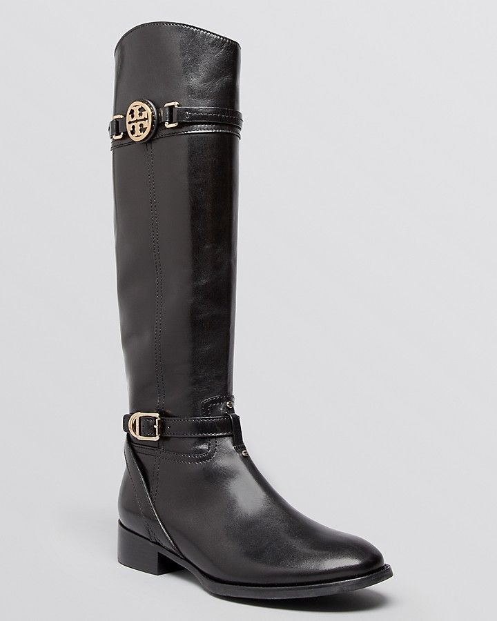 f77ffc58ec3b Finally A Boot For A NARROW CALF!! Tory Burch Tall Flat Riding Boots -  Calista on shopstyle.com