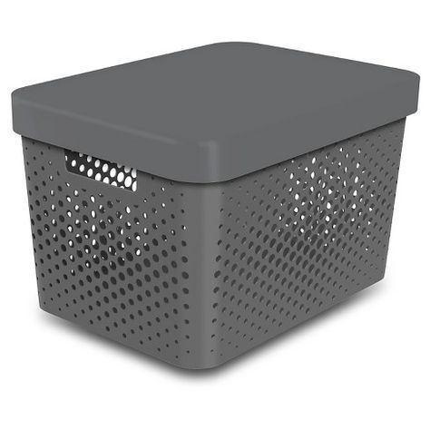 Storage Large Bin Perforated Gray Room Essentials In 2019