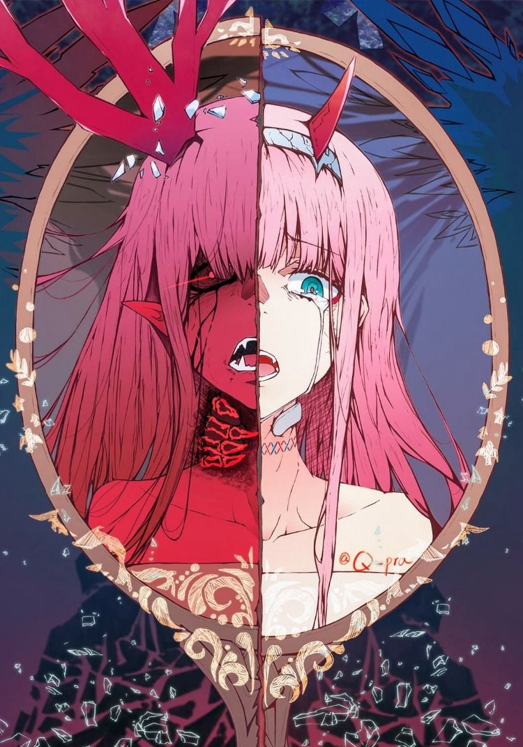 Zero Two Darling In The Franxx Fanart Manga Anime Animegirl