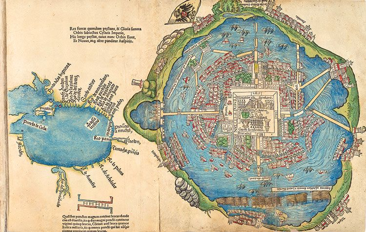 The Map Tenochtitlan 1524 History Today Funky maps