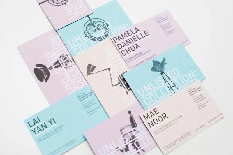 Pastel businesscards