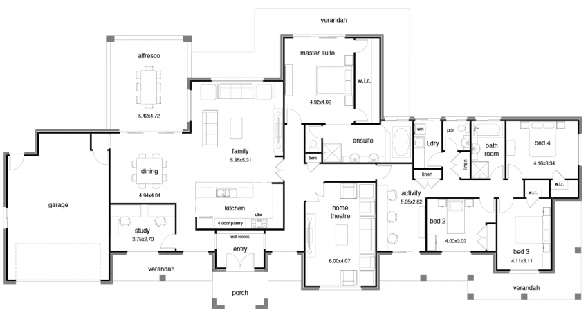 Floor Plan Friday Open Plan Wide Block 038 Activity Room Open House Plans Home Design Floor Plans House Plans Australia
