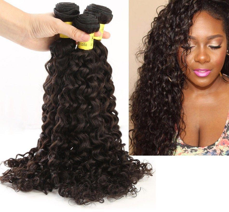 Brazilian Hair Weave Brown Color 3 Pcs Bundle Hair Wefts Hair Weft