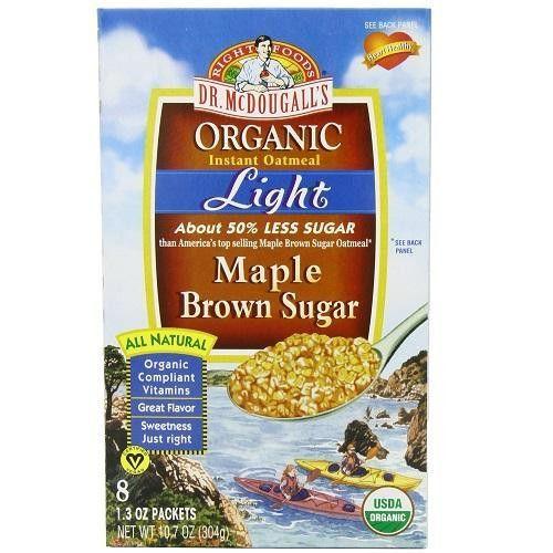 dr mcdougall s og2 lt maple oatmeal 6x10 7oz