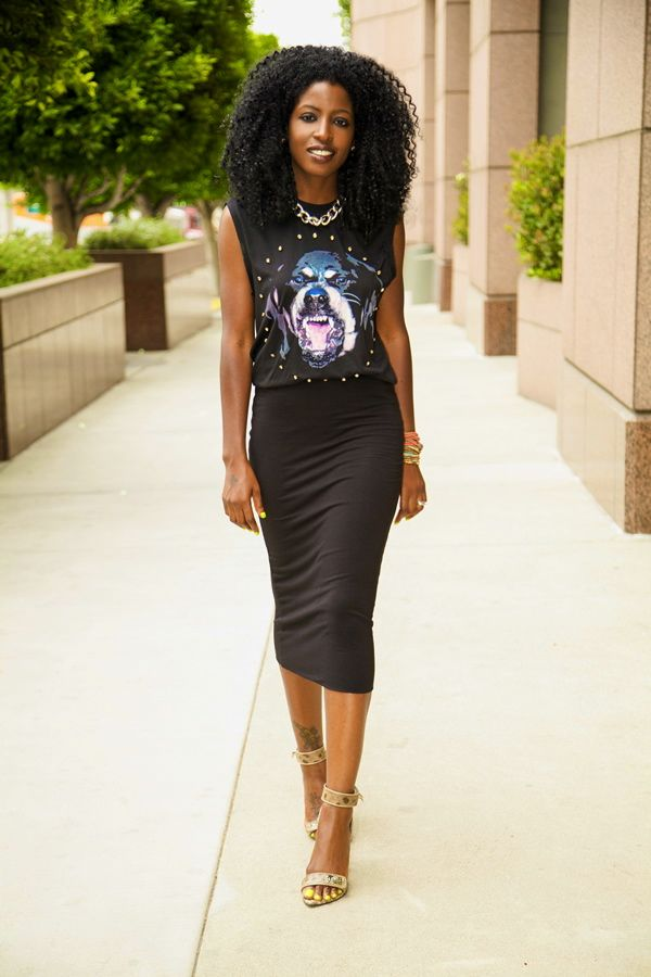 Black Pencil Skirt Midi