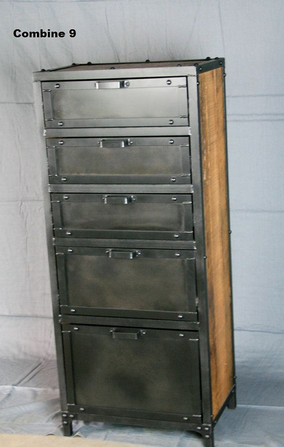Luxury Reclaimed Wood and Metal Cabinet