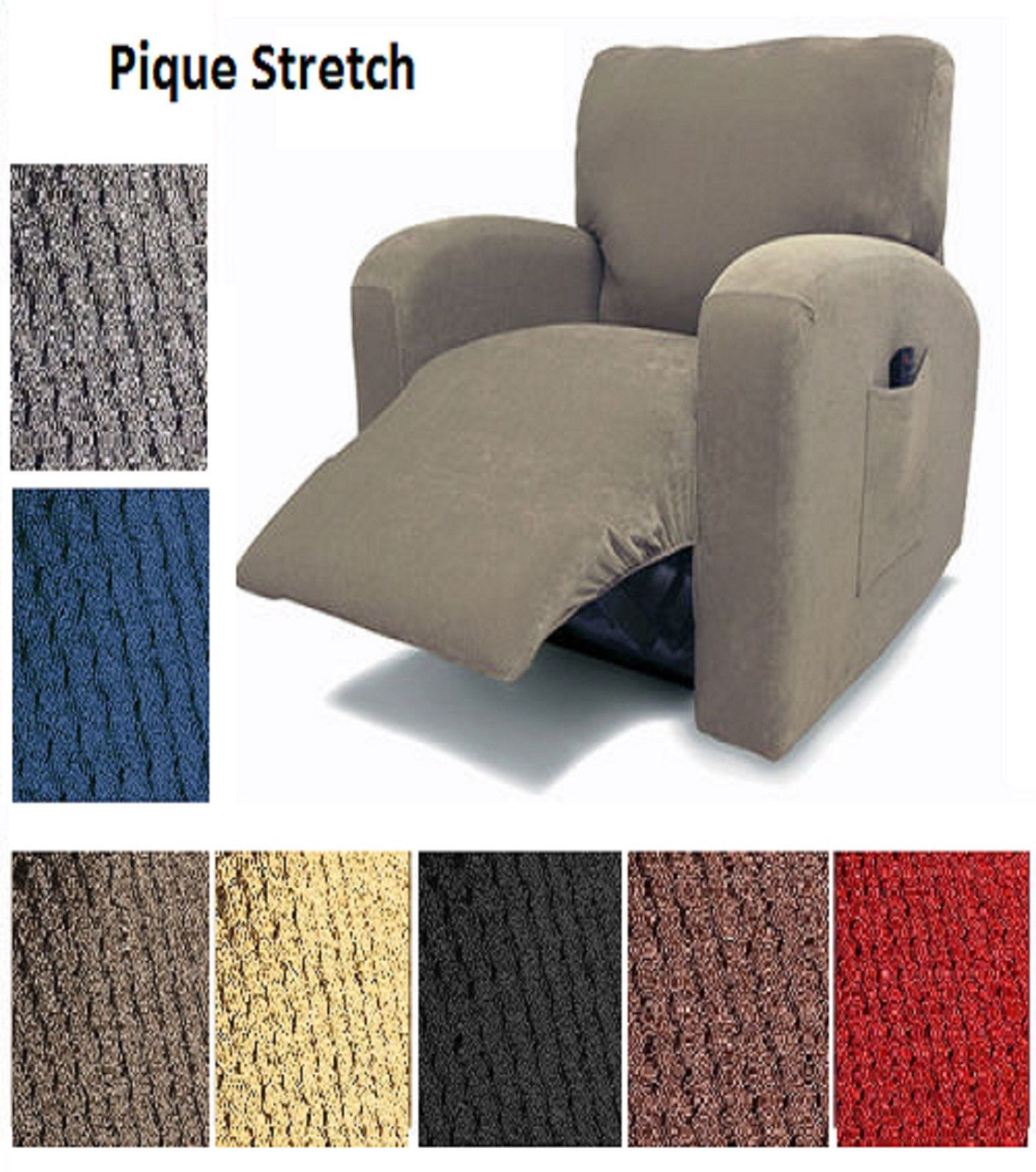 Furniture Pique Stretch Fit Furniture Chair Recliner Lazy Boy  # Muebles Reclinables Santo Domingo