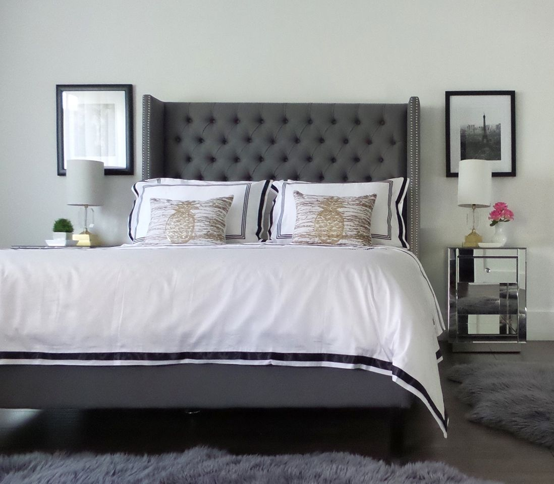 create a cool and contemporary hotel inspired master bedroom by