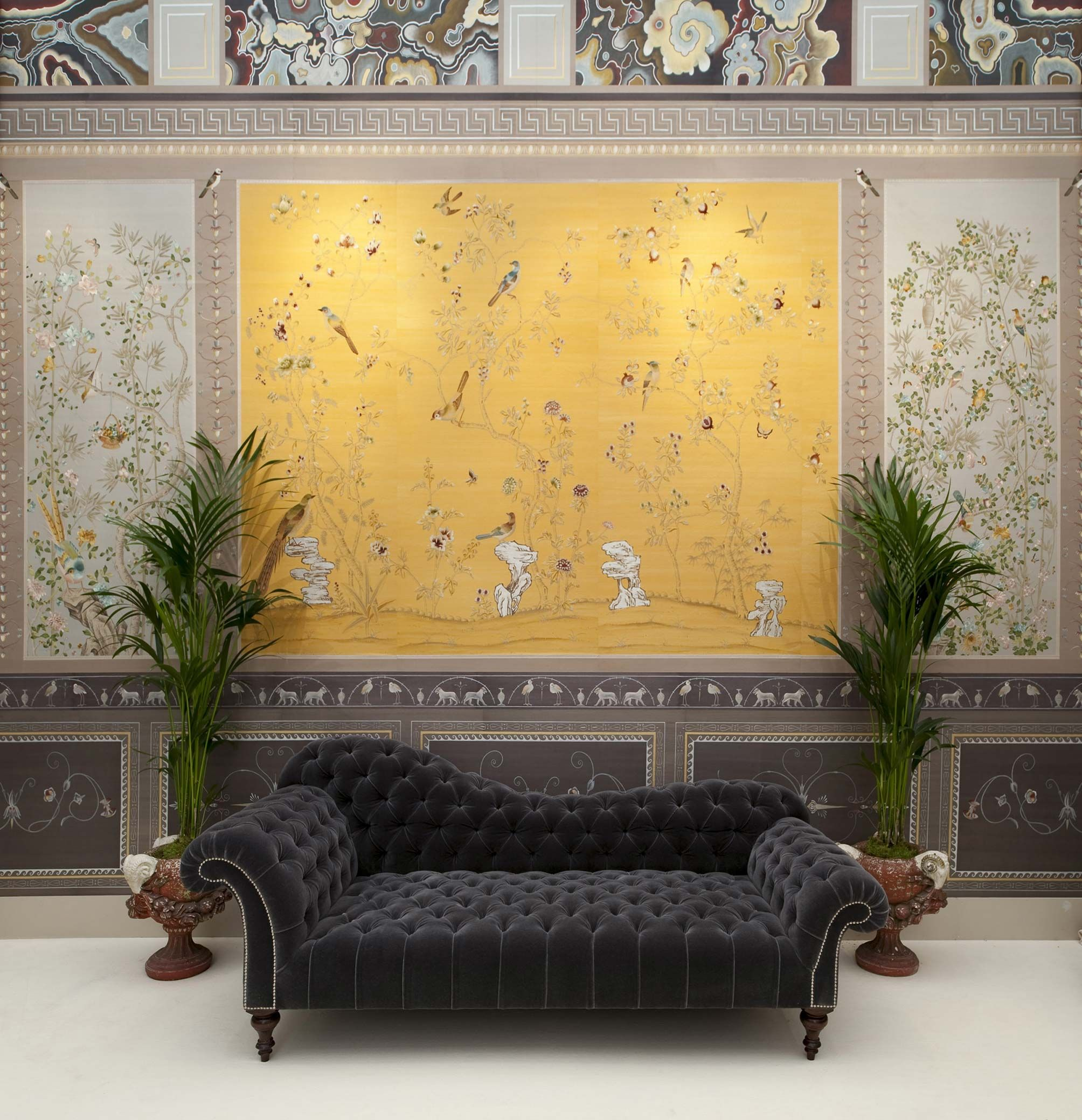 installations Chinoiserie Handmade Wallpaper Fromental
