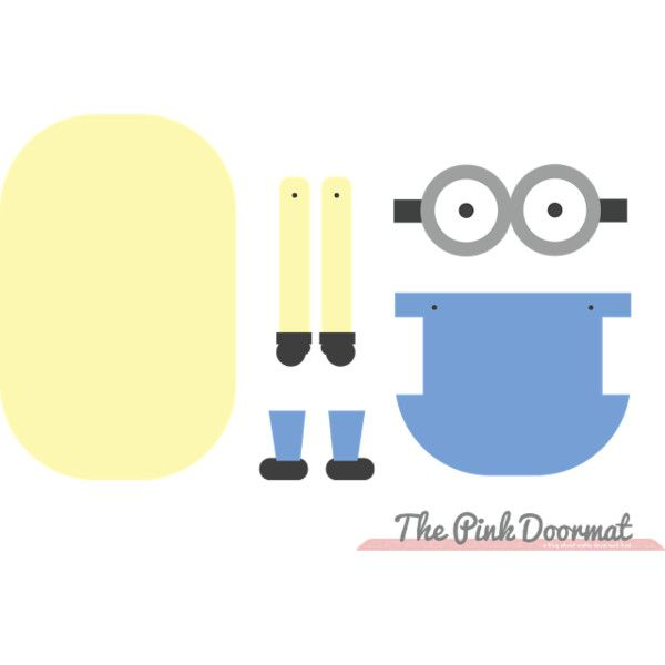 Minion Paper Doll ❤ liked on Polyvore | Polyvore | Pinterest