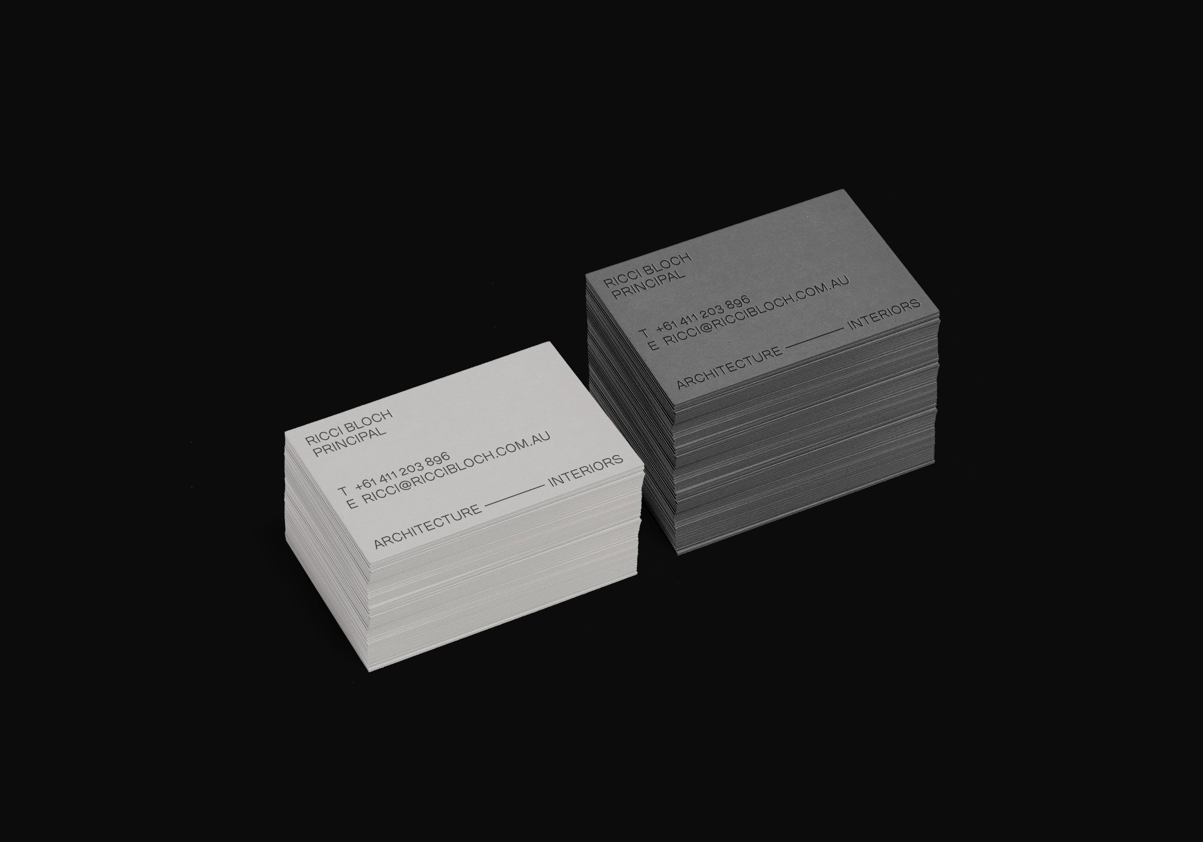 ricci bloch architects template logos and identity branding