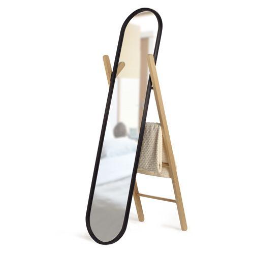 Miroir sur pied psyché en bois et caoutchouc noir Umbra   wishlist ...