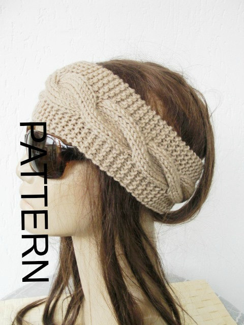 Knitting pattern pdf digital headband pattern instant download knitting pattern pdf digital headband pattern instant download handmade ear warmers cable knit headband women by ebruk headband pattern dt1010fo