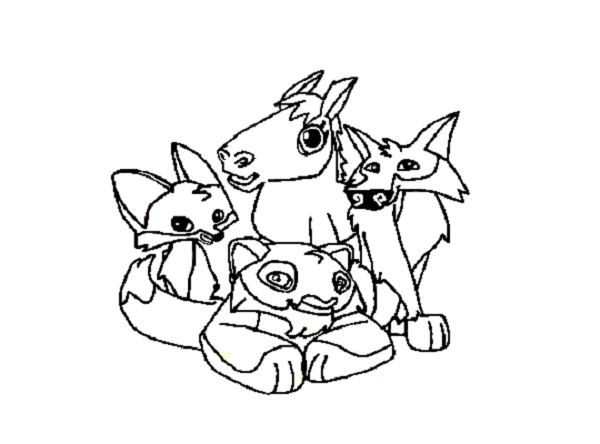 animal jam coloring pages fox