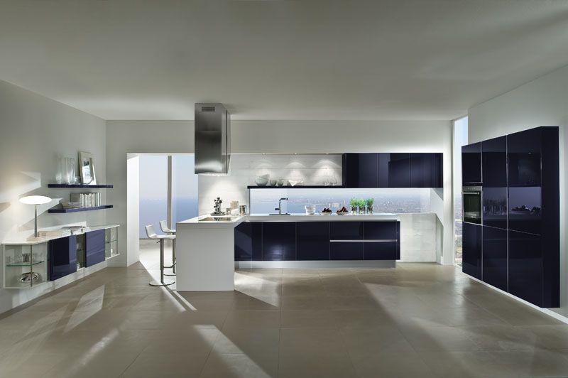 5090 GL Brombeere - Häcker Küchen Leverancier Hackers Systemat + - küche magnolia hochglanz