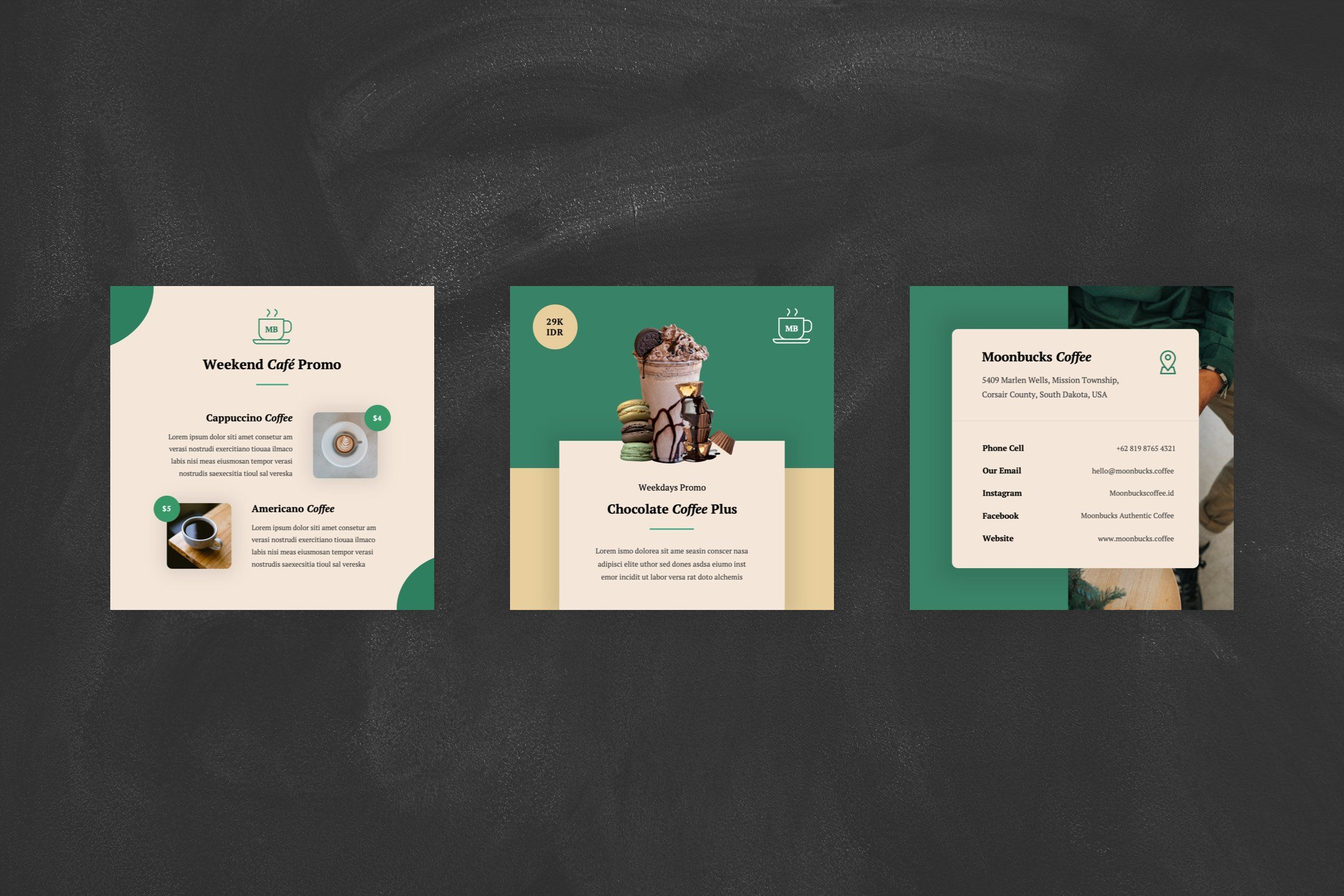 Coffee Shop Instagram Post Ppt Business Card Design Photography Instagram Posts Creative Powerpoint Templates