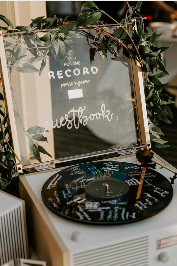 Unique Wedding Guestbook Idea - Records