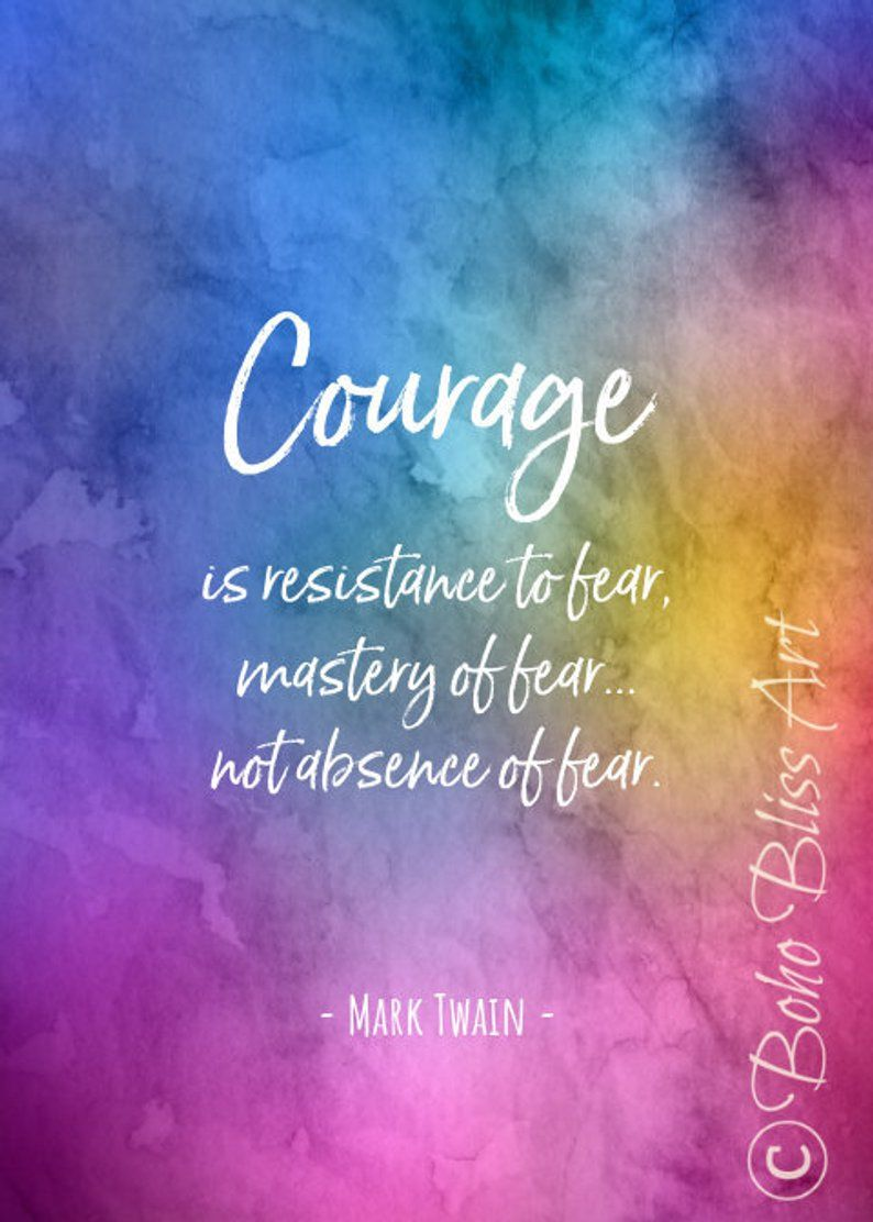 Mark Twain Quote Courage is resistance to fear mastery of
