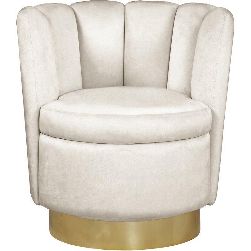 Sonette 30 Wide Velvet Swivel Barrel Chair In 2021 Swivel Barrel Chair Barrel Chair Meridian Furniture