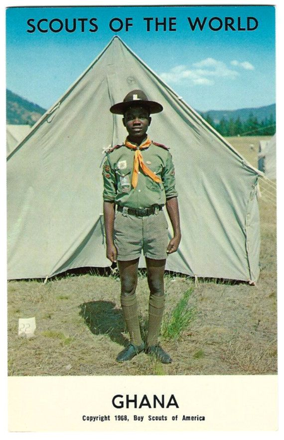 1968 Ghana Africa Boy Scouts of the World Postcard, African
