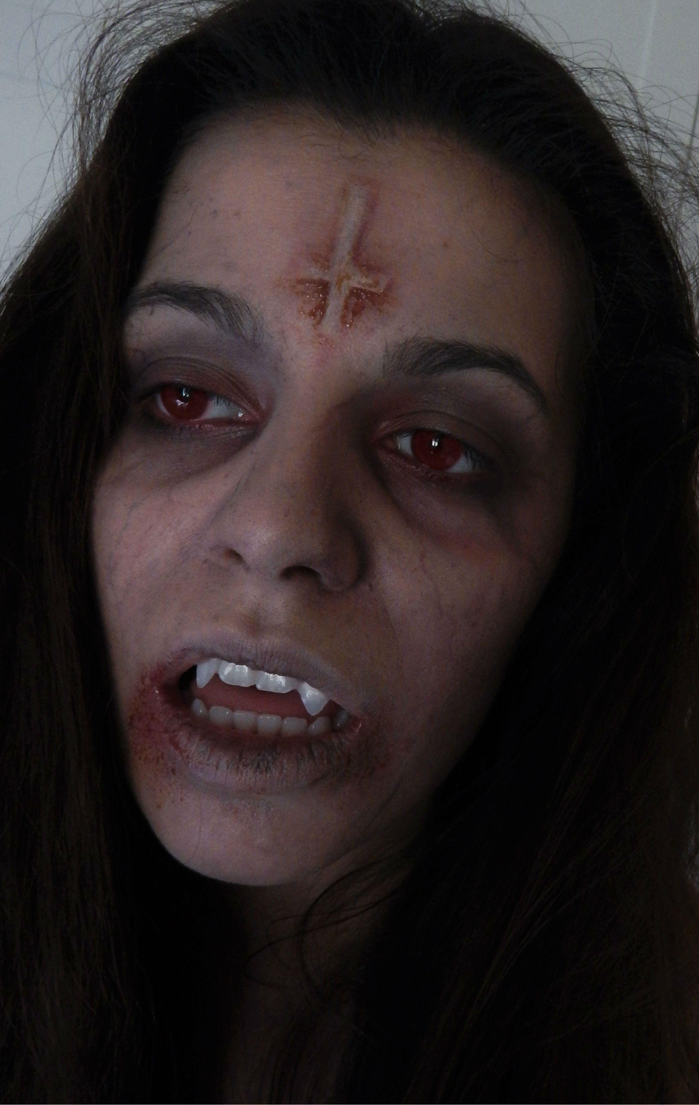 maquillaje vampiresavampire makeupvampirohalloween