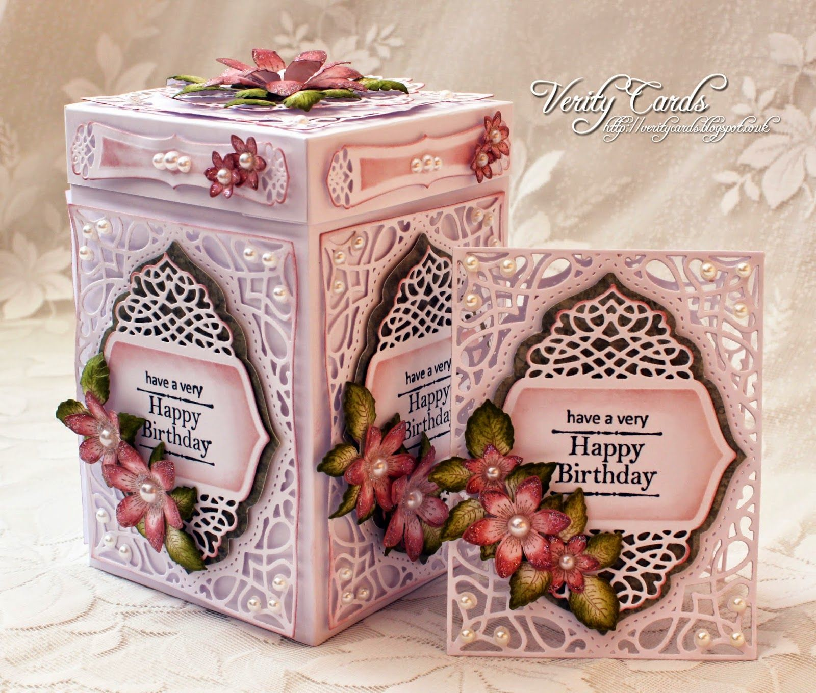 Verity Cards Happy Birthday Box Card Making Pinterest